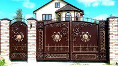 Кованые ворота и калитки со стальным листом