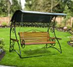 Кованые садовые качели