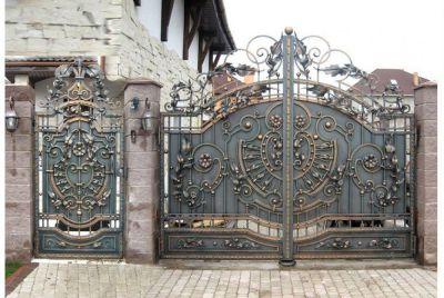 Кованые ворота по индивидуальному заказу Г-01