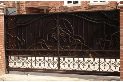 Кованые ворота по индивидуальному заказу Г-07