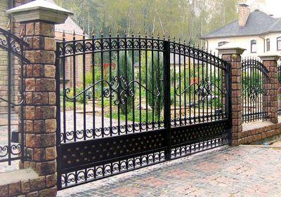 Кованые ворота Х-19