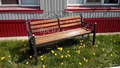 Кованая скамейка Х-09