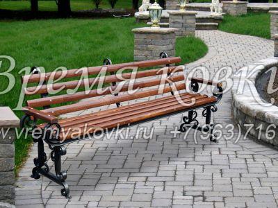 Кованая скамейка Х-23