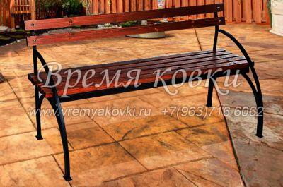 Кованая скамейка Х-33