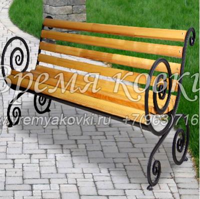 Кованая скамейка Х-34