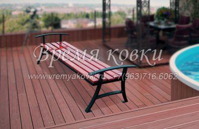 Кованая скамейка Х-42