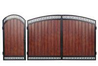 Кованые ворота с профнастилом П-16