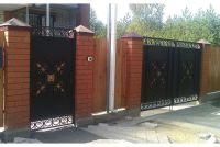 Кованые ворота со стальным листом С-06