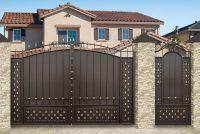 Кованые ворота со стальным листом С-09