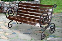 Кованая скамейка Х-01