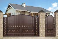 Кованые ворота со стальным листом С-13