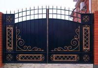 Кованые ворота со стальным листом С-20