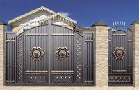 Кованые ворота со стальным листом С-23