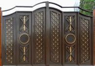 Кованые ворота со стальным листом С-26