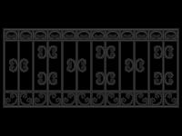 Кованая решетка Х-01