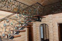 Кованая лестница Г-07