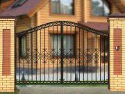Кованые ворота Х-10