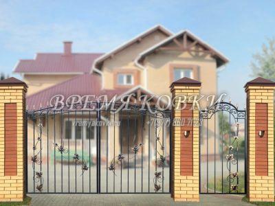 Кованые ворота Х-06